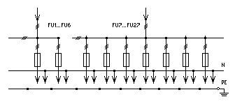 схема принципиальная однолинейная электрическая ВРУ1-44-00.