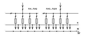 ВРУ-1-45-01УХЛ4 - автоматический блок упр. освещением (схема 2.1.14) ВРУ-1-45-02УХЛ4 - неавтоматический блок упр...