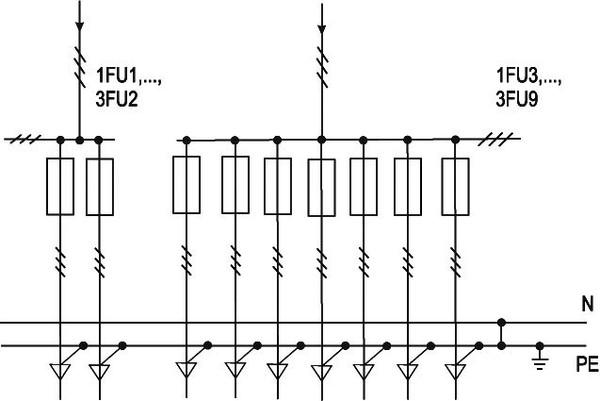 Принципиальная схема первичных соединений.  ВРУ3-28УХЛ4.